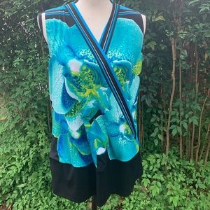 Cache' Orchid Print Top!  Beautiful on!!!